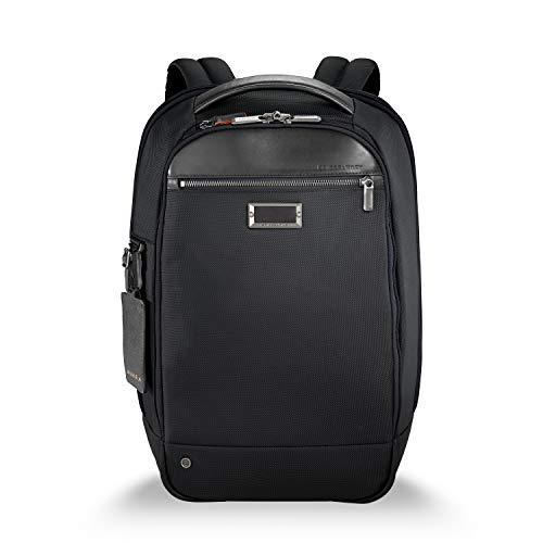 Briggs & Riley Work Medium Slim Backpack Aktentasche, 43 cm, 15.9 liters, Schwarz (Black) -