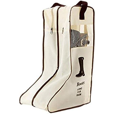 FakeFace pieghevole portatile-Borsa per stivali da equitazione, Fashion, per stivali, altezza ginocchio, Borsa per il trasporto con maniglia Armadio da viaggio Organizer per scarpe