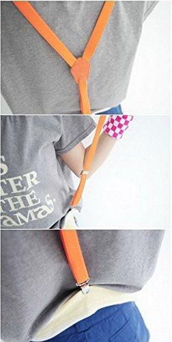 Smile YKK Jarretelles Brretelle Elastiques Dos Y-shape Suspenders Rose