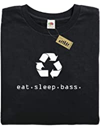 eat.sleep.bass. Bass Guitar Player T-Shirt Recycle Eat Sleep Mens gift present