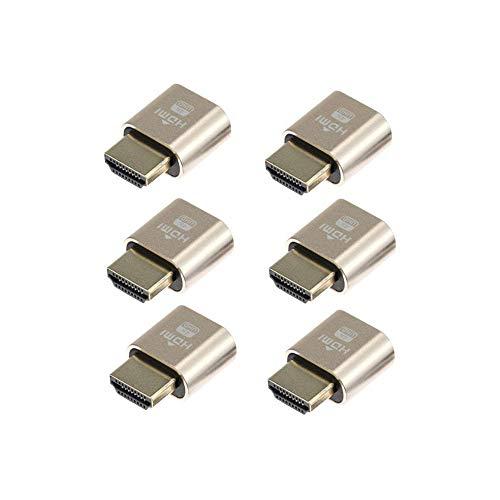6-Pack   Paquete 6 Adwits 4K/30Hz HDMI Emulador pantalla