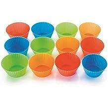 Lacor 66745 - Set de 12 moldes para muffins, silicona