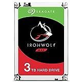 Seagate IronWolf - Disco duro interno de 3TB para sistemas NAS (5900 RPM, 64 MB de caché hasta 180 MB/s, 180TB al año de carga de trabajo) Plateado