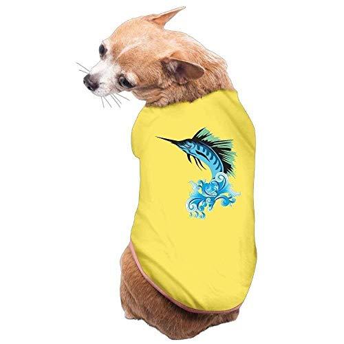 Schwertfisch Kostüm - GSEGSEG Hundekleidung, Mantel, Pullover, Weste, für Hunde und Katzen, weich, dünn, Schwertfisch-Design, 3 Größen und 4 Farben erhältlich