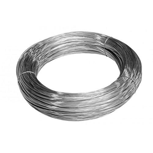 Filo in acciaio inox ricotto 316L, Ø 1,2 mm, brillante, 1 kg, lunghezza 110 m