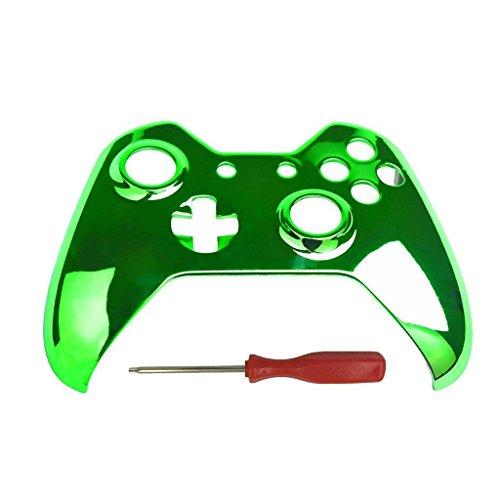 Kobwa Ersatz Gehäuse Front Schale Schutzhülle mit Chrom Schraubendreher-Set für Xbox One Controller