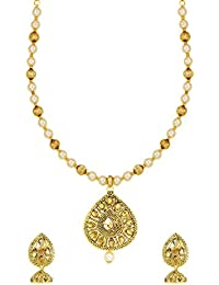 Zaveri Pearls Jewellery Set For Women (Golden) (ZPFK6356)