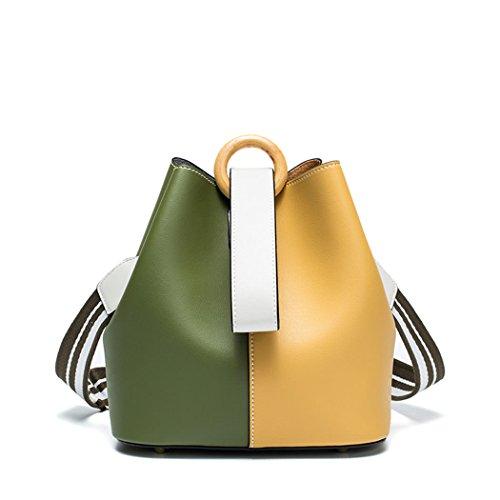 Gesteppte Tasche Mini Tote (DEERWORD Damen Umhängetaschen Handtaschen Totes Henkeltaschen Schultertaschen Leder Orange Gelb)