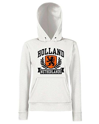 T-Shirtshock - Sweats a capuche Femme TSTEM0043 holland netherlands ringer t Blanc