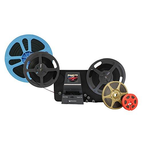 Wolverine MM100PRO 8 Rollen für Digital MovieMaker Pro Film-Digitizer, Filmmescanner, 8 mm Film-Scanner, Schwarz