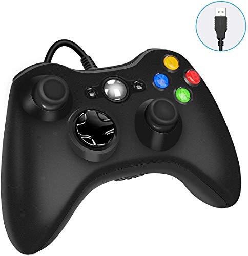 YCCTEAM Controller für Xbox 360, Kabelgebundene USB Gamepad Controller für Xbox 360, Ergonomisches Design USB Wired Gamepad Joystick für Xbox 360 PC Windows7 XP