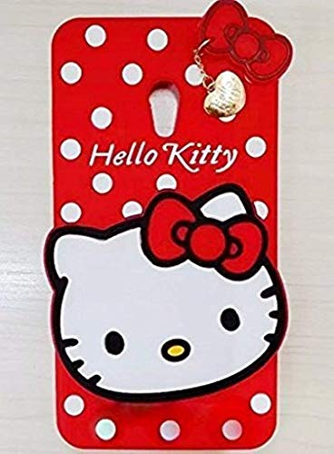 SPYKART Premium Soft Cute Hello Kitty Back Case Cover for HTC Desire 620 - RED