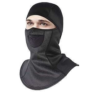 Unigear Sturmhaube, Balaclava Gesichtsmaske Skimaske Gesichtshaube Motorradmaske, Atmungsaktiv Thermoaktiv, Windschutz Ohrenschutz für Skifahren Motorradfahren Radfahren, MEHRWEG