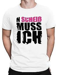 75e7e1577920e1 vanVerden Herren Fun T-Shirt mit Spruch N Scheiß Muss Ich in 8 Farben Plus