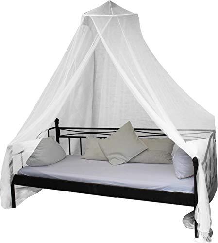 normani Mobiles Moskitonetz - Insektenschutz für In- und Outdoor - für Einzel- und Doppelbetten Farbe Weiß
