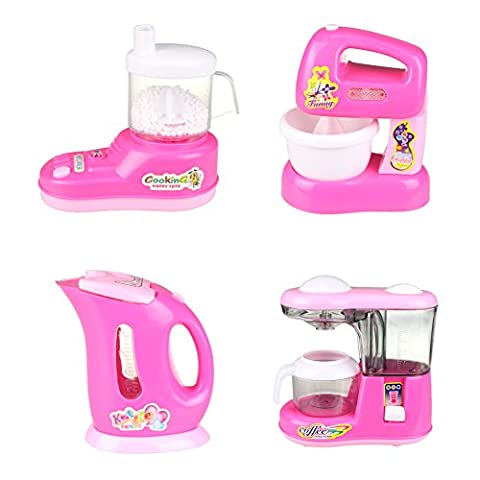Pretend Toy Kitchen Accessories Cooking Toys Home Appliance Play Set 4 Pcs for Kids Ages 3 and up