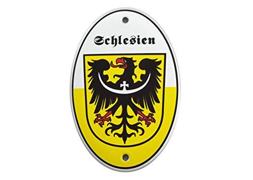 Emailschild WAPPEN SCHLESIENS 15x10 cm Schlesischer Adler   Wappentier   wetterfest   Schild Emaille -