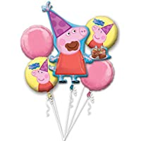 Amscan 3130101 Peppa Pig Foil Balloon Bouquets by Amscan