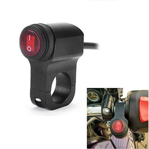 yosoo 12V 16A Motorrad Wasserdicht 7/20,3cm 22mm Lenker Scheinwerfer Nebel Spot Licht auf aus-Schalter wasserdicht mit Kontrollleuchte