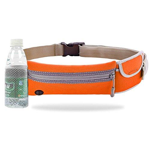 Sport Taille Tasche, Laufen, Handy, Sport, Yoga, Fitness Taille Tasche, Männer und Frauen Outdoor-Ausrüstung, Mini-Kessel Kleine Taille Tasche, Laufen... Orange