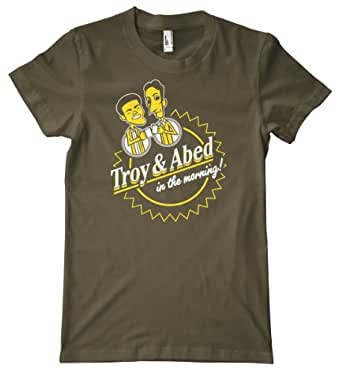Troy & Abed In the Morning! Premium T-Shirt, Army, Small