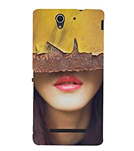 lovely Lips 3D Hard Polycarbonate Designer Back Case Cover for Sony Xperia C3 Dual :: Sony Xperia C3 Dual D2502