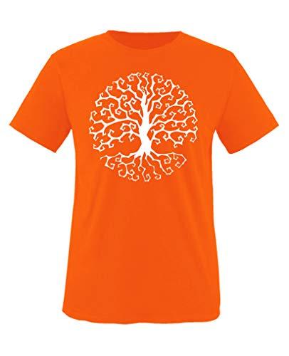 oween Baum - Jungen T-Shirt - Orange/Weiss Gr. 98-104 ()