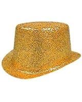 Hat Glitter Topper Gold PVC for Fancy Dress Party Accessory