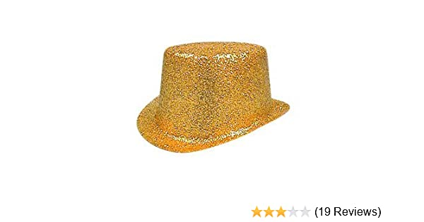 Hat Glitter Topper Gold PVC for Fancy Dress Party Accessory  Amazon.co.uk   Toys   Games 083ba2a38d20