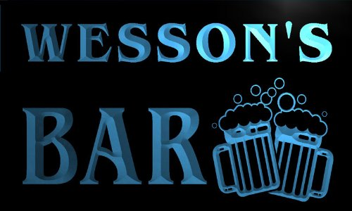 w006053-b-wessons-nom-accueil-bar-pub-beer-mugs-cheers-neon-sign-biere-enseigne-lumineuse
