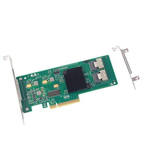 10Gtek® Interner PCI Express SAS/SATA HBA RAID Controller Karte, LSI SAS2008 Chip, 8-Port 6Gb/s, wie LSI 9211-8I, MEHRWEG