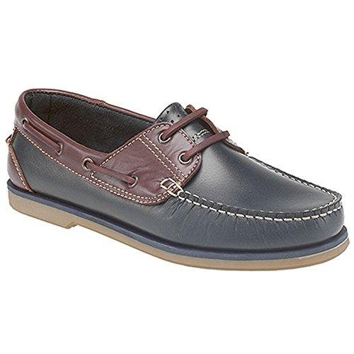 Dek - Chaussures bateau - Garçon Bleu marine/Marron