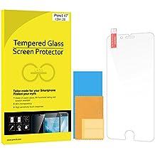 JETech® - Protector de pantalla de vidrio templado para móvil Apple iPhone 6 y iPhone 6s 4,7