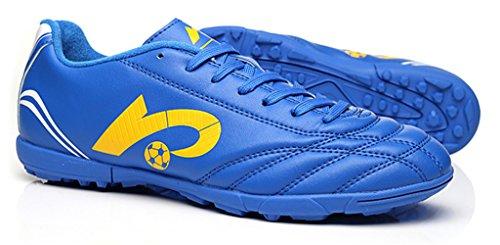 NEWZCERS Tf chaussures d'entraînement de football pour femmes et hommes et garçons et filles Bleu (22004)