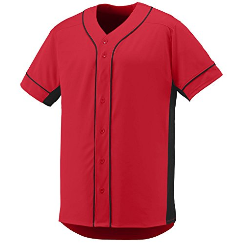 Augusta Sportswear Men'S Slugger Baseball Jersey 2Xl Red/Black (Body Jersey Knit)