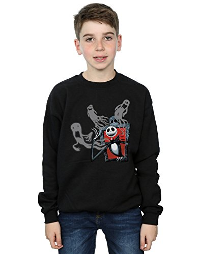 Disney Jungen Nightmare Before Christmas Ghosts of Jack Sweatshirt Schwarz 12-13 ()