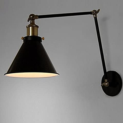 VanMe Vintage Industrial Wall Lamp Loft Creative Swing Arm Sconce Balcony Stair Porch Restaurant Bar Bedroom Wall Light