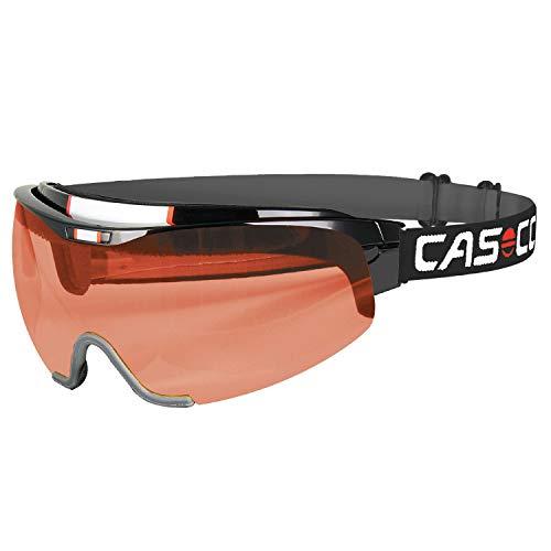 >Casco Spirit Vautron Nordic-Brille Langlauf-Brille Biathlon-Brille mit VAUTRON-Automatikscheibe (schwarz, L)