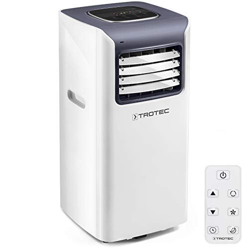 TROTEC Climatiseur local monobloc PAC 2010 S de 2,0 kW pour pièces de 65 m³ max., classe énergétique A avec Trois modes de fonctionnement : rafraîchissement, ventilation, déshumidification