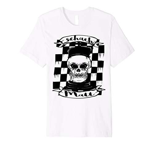Schach Matt Tattoo style totenkopf t-shirt damen herren kids