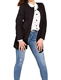 MForshop Giacca Lunga Donna spolverino copriabito Cappotto Estivo Elegante  Slim Fit 8634 2651c304d06