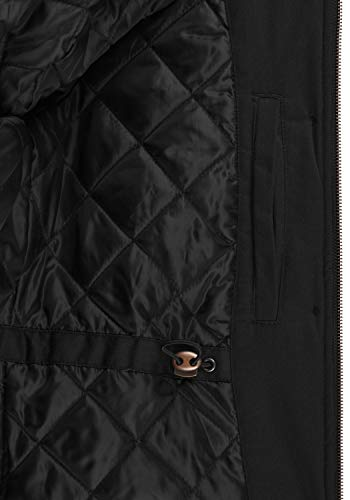DESIRES Annabelle Damen Übergangsparka Parka Übergangsjacke Lange Jacke mit Kapuze, Größe:XS, Farbe:Black (9000) - 6