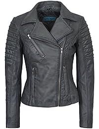 Smart Range New Ladies 9334 Fashion Designer Biker Style Real Soft Lambskin Leather Jacket