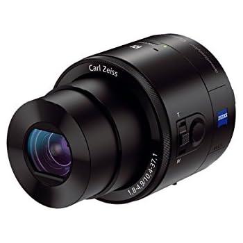 Sony DSC-QX100 SmartShot Digitalkamera (20,2 Megapixel Exmor R CMOS Sensor, 3,6x opt. Zoom, 28mm Carl Zeiss Vario Sonnar T Objektiv mit F1.8, HD Videoaufnahme) schwarz