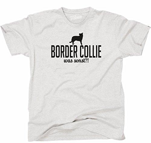Siviwonder Unisex T-Shirt BORDER COLLIE WAS SONST?! Wilsigns Hunde Hund fun ash - schwarz