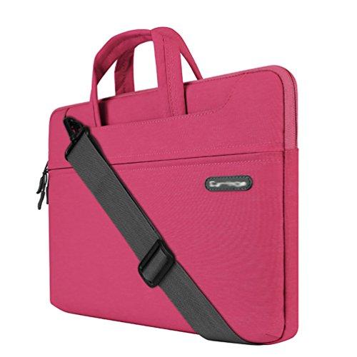 YiJee Custodia Borsa a Tracolla Ventiquattrore Sleeve Case per Portatile 11.6 Pollice Pink