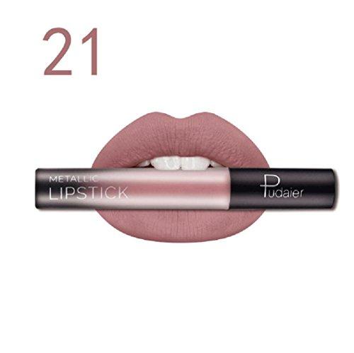 Rouge à lèvres,Honestyi Rouge à lèvres durable Brillant à lèvres liquide mat imperméable Lip Liner Cosmétiques (21)
