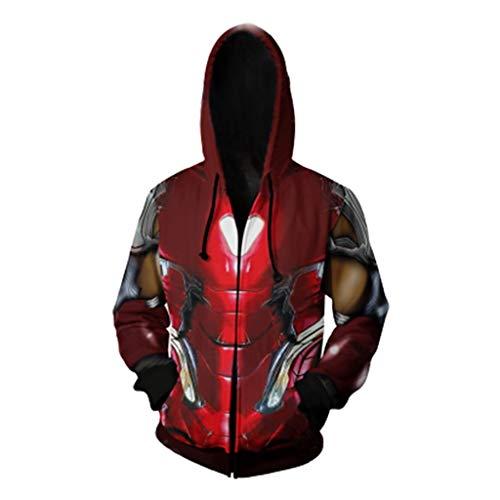 Okeak Iron Man Cosplay Hoodies 3D Digitaldruck Hoody Mantel Halloween Kostüm Marvel Filme Fans Sweatshirt Sport Lose Freizeitjacke - Sport Fan Kostüm