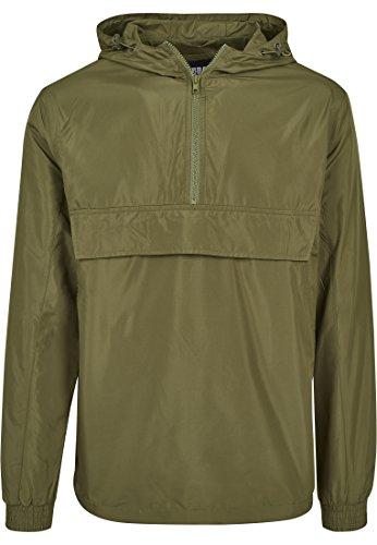 Urban Classics Herren  Windbreaker Basic Pull-Over Jacket, leichte Streetwear Schlupfjacke, Überziehjacke für Frühjahr und Herbst