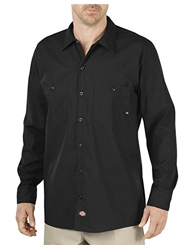 Dickies Littmann Workwear ll535bk Polyester/Baumwolle Herren Long Sleeve Industrial Work Shirt, schwarz, M Tall, schwarz, 1 (Sleeve Long Baumwolle Work Shirt)